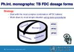 ph int monographs tb fdc dosage forms8