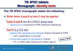 tb 4fdc tablets monograph identity tests12