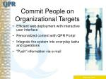 commit people on organizational targets