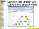 communicate strategy with web enabled strategy maps