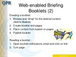 web enabled briefing booklets 2