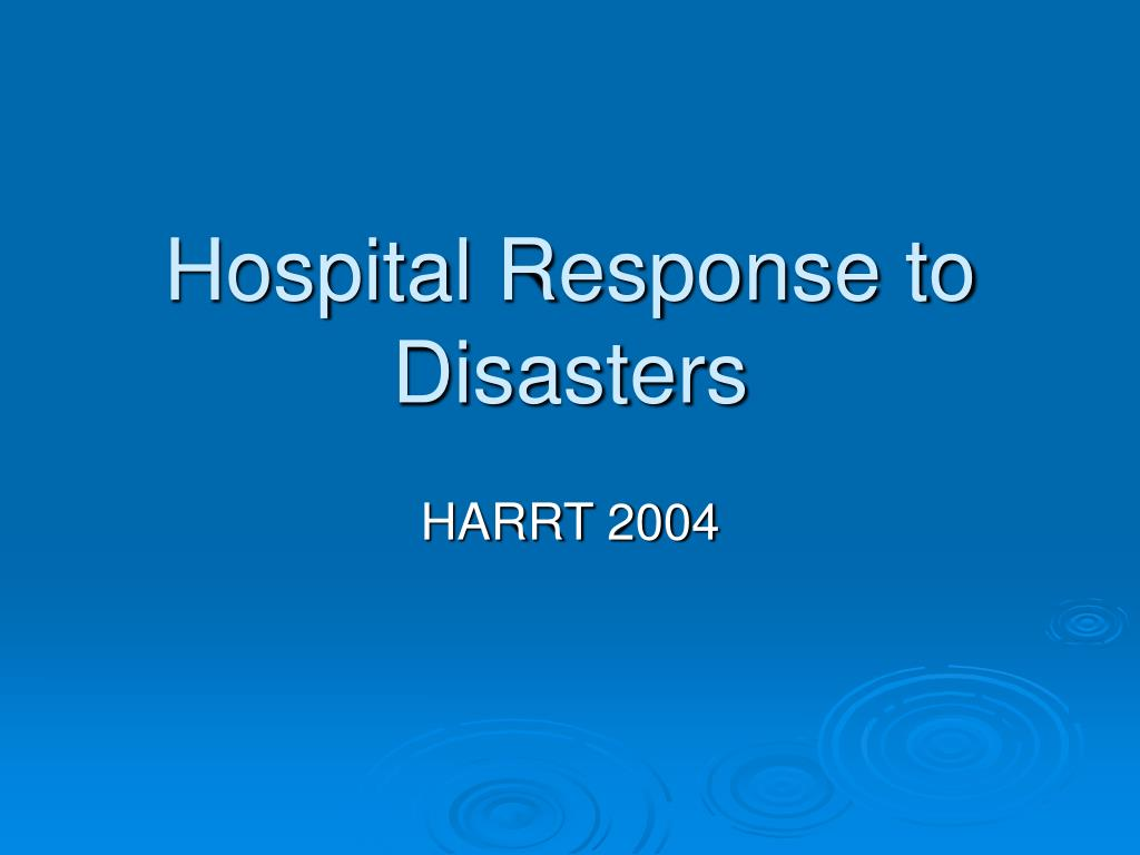 hospital response to disasters l.