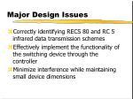 major design issues