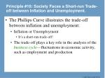 principle 10 society faces a short run trade off between inflation and unemployment