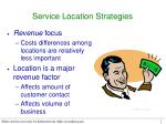 service location strategies