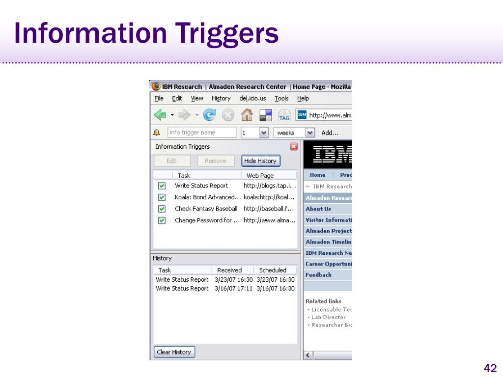 Information Triggers