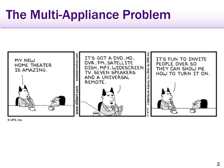 The multi appliance problem
