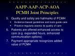 aafp aap acp aoa pcmh joint principles18
