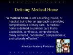 defining medical home