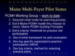 maine multi payer pilot status