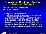 legislative briefing special power of attorney12