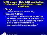 mic3 issues rule 3 102 application for transfer of student records and enrollment9