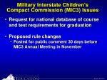 military interstate children s compact commission mic3 issues