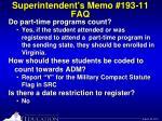 superintendent s memo 193 11 faq