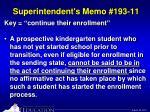 superintendent s memo 193 113