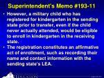 superintendent s memo 193 114