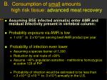 b consumption of small amounts high risk tissue advanced meat recovery19