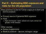 part ii estimating bse exposure and risks for the us population