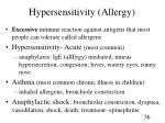 hypersensitivity allergy