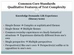 common core standards qualitative features of text complexity21