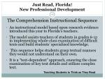 just read florida new professional development the comprehension instructional sequence