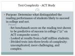 text complexity act study