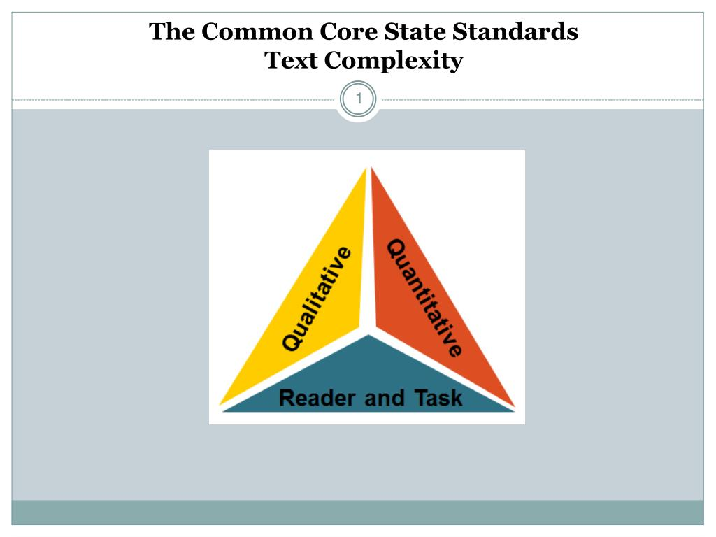 the common core state standards text complexity l.