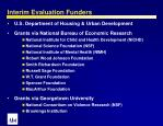 interim evaluation funders