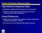interim evaluation response rates