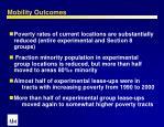 mobility outcomes