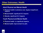 other outcomes health