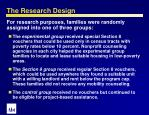 the research design