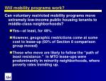 will mobility programs work