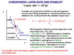atmospheric lapse rate and stability