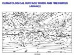 climatological surface winds and pressures january1