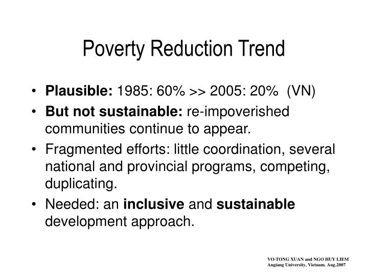 poverty reduction trend n.