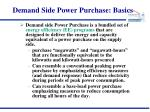 demand side power purchase basics