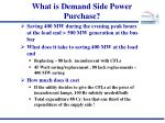 what is demand side power purchase