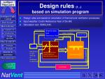 design rules 1 based on simulation program