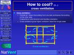 how to cool 3 cross ventilation
