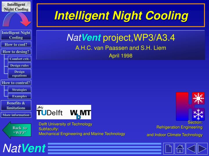 intelligent night cooling n.