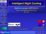 intelligent night cooling