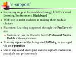 e support