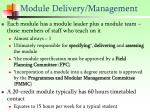 module delivery management
