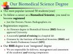 our biomedical science degree