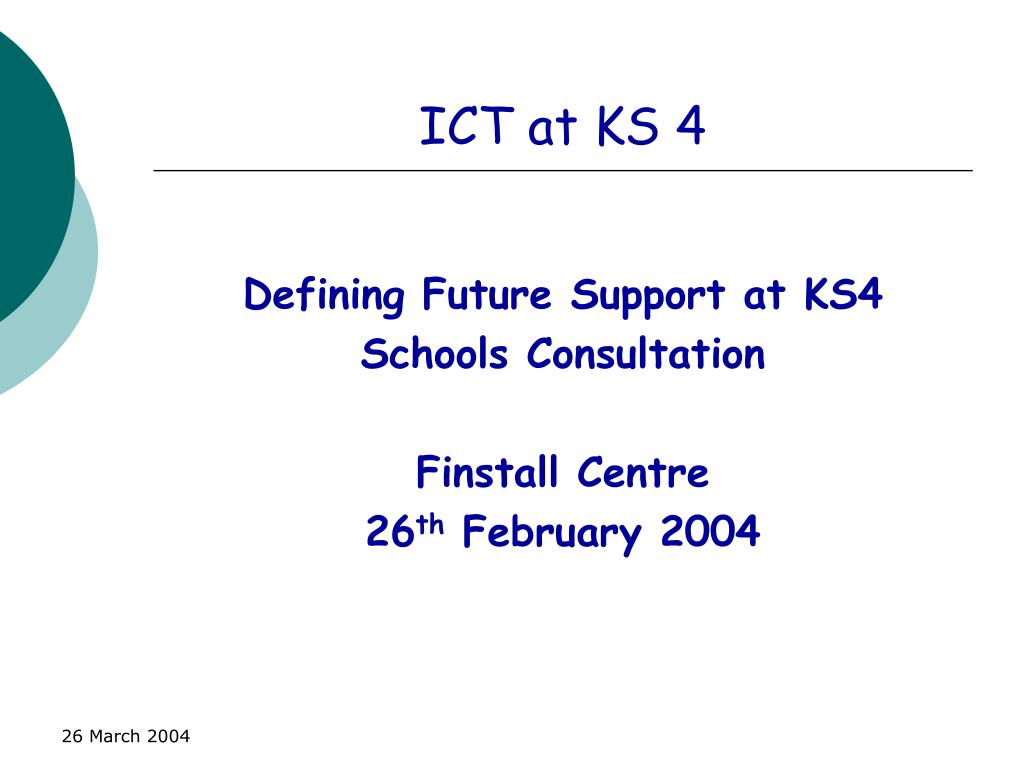 ict at ks 4 l.