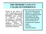 the prodere s legacy 5 years of experience