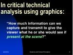 in critical technical analysis using graphics