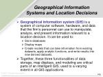 geographical information systems and location decisions