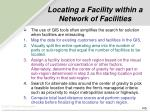 locating a facility within a network of facilities